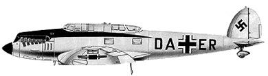 Profil couleur du Heinkel He 70 Blitz