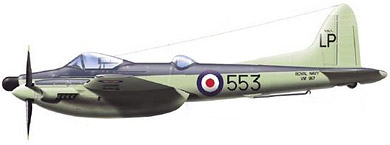 Profil couleur du De Havilland D.H.103 Hornet / Sea Hornet