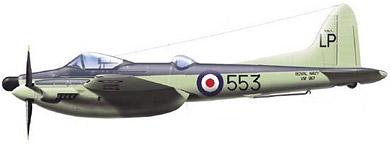 Profil couleur du De Havilland D.H.103 Hornet / Sea Hornet