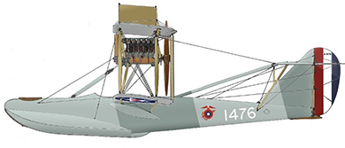 Profil couleur du Curtiss HS-2L