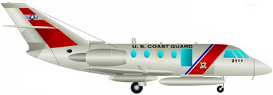 Profil couleur du Dassault HU-25 Guardian