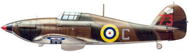 Profil couleur du Hawker  Hurricane