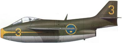 Profil couleur du Saab J29 Tunnan