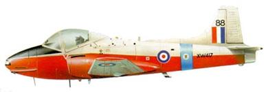 Profil couleur du Hunting Percival P.84 Jet Provost
