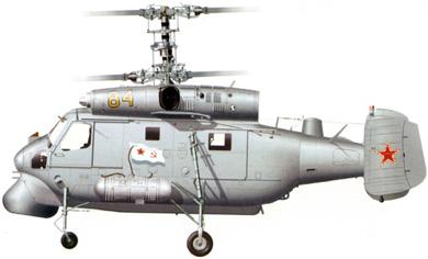 Profil couleur du Kamov Ka-25  'Hormone'