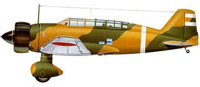 Profil couleur du Mitsubishi Ki-15/C5M Karigane 'Babs'