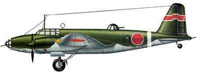 Profil couleur du Mitsubishi Ki-21  'Sally'