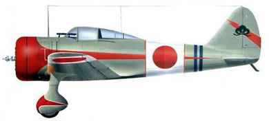 Profil couleur du Nakajima Ki-27 Nate 'Clint'