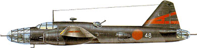 Profil couleur du Mitsubishi Ki-67 Hiryu 'Peggy'