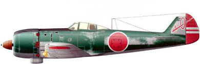 Profil couleur du Nakajima Ki-84 Hayate 'Franck'