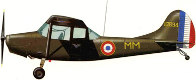 Profil couleur du Cessna L-19/O-1 Bird Dog