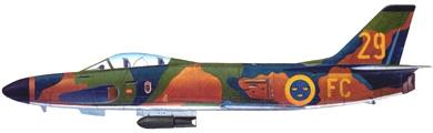 Profil couleur du Saab J32/A32 Lansen