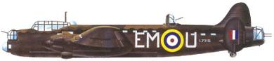 Profil couleur du Avro  Manchester