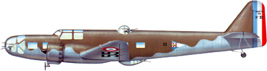 Profil couleur du Bloch MB.131