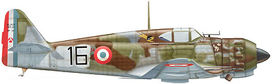 Profil couleur du Bloch MB.152