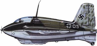Profil couleur du Messerschmitt Me 163 Komet