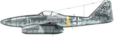 Profil couleur du Messerschmitt Me 262 Schwalbe