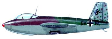 Profil couleur du Messerschmitt Me 263