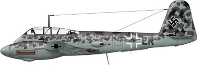 Profil couleur du Messerschmitt Me 410 Hornisse