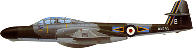 Profil couleur du Armstrong-Whitworth Meteor NF