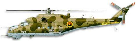Profil couleur du Mil Mi-24  'Hind'