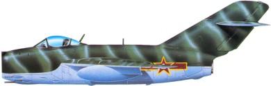 Profil couleur du Mikoyan-Gurevich MiG-15  'Fagot'