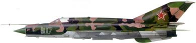 Profil couleur du Mikoyan-Gurevich MiG-21  'Fishbed'