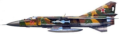 Profil couleur du Mikoyan-Gurevich MiG-23  'Flogger'