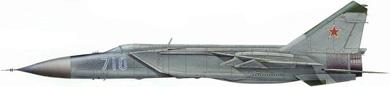 Profil couleur du Mikoyan-Gurevich MiG-25  'Foxbat'
