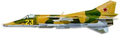 Profil couleur du Mikoyan-Gurevich MiG-27  'Flogger'