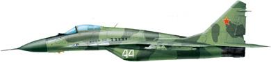 Profil couleur du Mikoyan MiG-29  'Fulcrum'