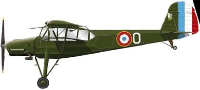 Profil couleur du Morane-Saulnier MS.500 Criquet