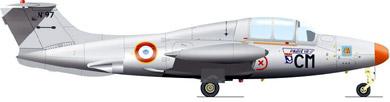 Profil couleur du Morane-Saulnier MS.760 Paris