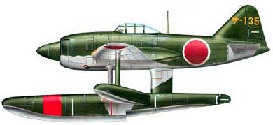 Profil couleur du Kawanishi N1K Kyofu 'Rex'