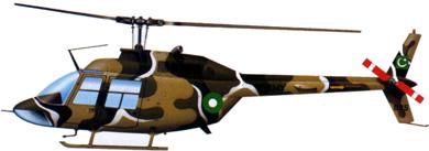 Profil couleur du Bell OH-58 Kiowa