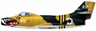 Profil couleur du Dassault MD.450 Ouragan
