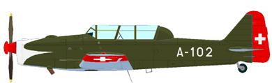 Profil couleur du Pilatus P-2