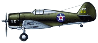 Profil couleur du Curtiss P-36 Hawk