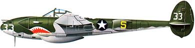 Profil couleur du Lockheed P-38 Lightning