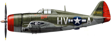 Profil couleur du Republic P-47 Thunderbolt