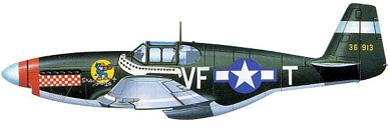 Profil couleur du North American P-51 Mustang