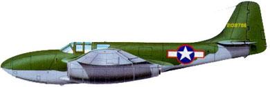 Profil couleur du Bell P-59 Airacomet