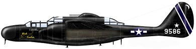 Profil couleur du Northrop P-61 Black Widow