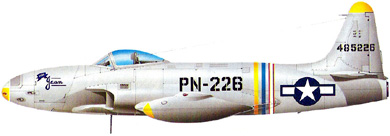 Profil couleur du Lockheed P-80 Shooting Star