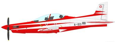 Profil couleur du Pilatus PC-21