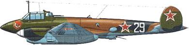 Profil couleur du Petlyakov Pe-2