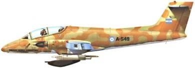 Profil couleur du FMA IA 58 Pucarà