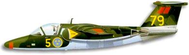 Profil couleur du Saab 105 / SK 60