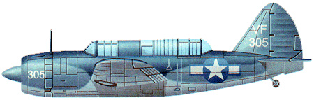 Profil couleur du Brewster SB2A Buccaneer