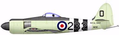 Profil couleur du Hawker  Sea Fury